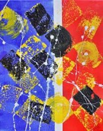 Fantasie, Acrylmalerei, Bunt, Malerei