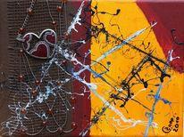 Abstrakt, Acrylmalerei, Schmuck, Herz