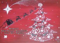 Schnee, Malerei, Weihnachten