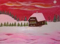 Mond, Winter, Schnee, Winterlandschaft