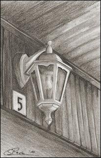 Bleistiftzeichnung, Lampe, Grafit, Zeichnungen
