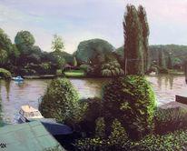 Garten, Landschaft, Idylle, Wasser