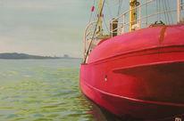 Anlieger, Elbe, Schiff, Feuerschiff
