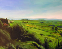 Landschaft, Toskana, Chianti, Idylle