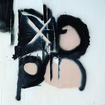 Abstrakt, Schwarz, Malerei,