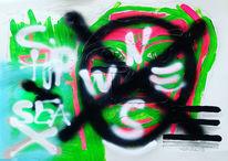 Abstrakt, Graffiti, Meer, Malerei