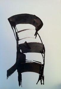 Grafik, Abstrakt, Stuhl