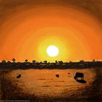Digital, Südafrika, Malerei, Pinnwand