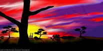 Malerei, Südafrika, Digital, Pinnwand