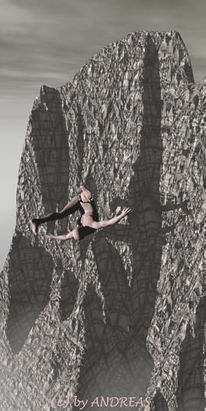 Digitale kunst, Surreal, Berge