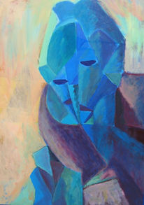 Acrylmalerei, Hartfaser, Malerei, Picasso