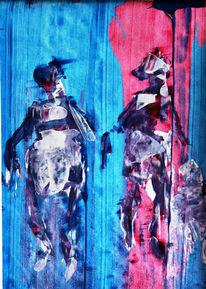 Spachtel, Acrylmalerei, Malerei,