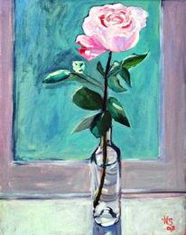 Acrylmalerei, Malerei, Rose,