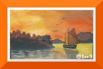 Malerei, Segelboot