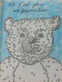 Skizzenbuch, Bär, Fourmilier, Ameisenbär