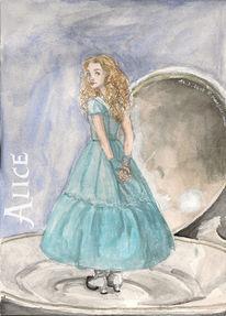 Alice im wunderland, Malerei
