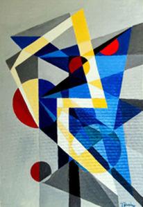 Agonie, Konstrukt, Blau, Malerei