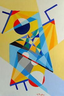 Code, Ölmalerei, Kreis, Dreieck