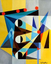 Konstrukt, Frequenz, Kubismus, Rot schwarz