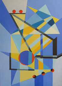 Kreis, Ölmalerei, Dreiecke, Kubismus