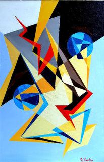 Kubismus, Vater, Sinapsen, Ölmalerei