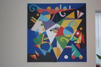 Abstrakt, Contruktive cubism, Dreiecke kreise, Constructive cubism