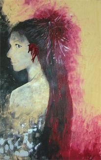 Portrait, Filz, Acrylmalerei, Malerei