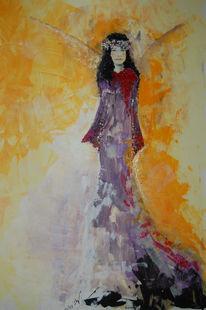 Acrylmalerei, Engel, Malerei, Surreal