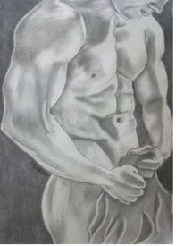 Menschen, Körper, Akt, Bleistiftzeichnung