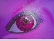 Magie, Augen, Lila, Malerei