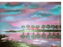Wald, Fluss, Wasser, Himmel
