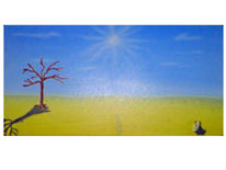 Sonne, Baum, Wüste, Landschaft
