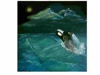 Nacht, Schwertwal, Wal, Ozean