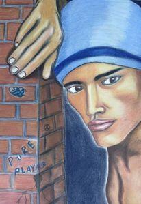 Portrait, Zeichnung, Prominent, Sänger