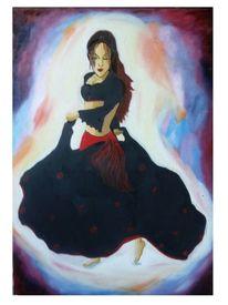 Ölmalerei, Model, Romantik, Stolz