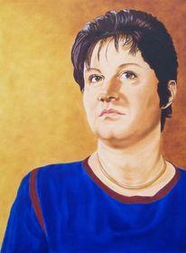 Harzölmalerei, Selbstportrait, Portrait, Malerei