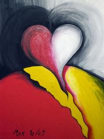 Herz, Malerei, Surreal, Weg