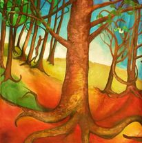 Bunt, Struktur, Baum, Wald