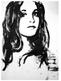 Schwarzweiß, Frau, Junge frau, Portrait