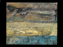 Flagge, Ölmalerei, Malerei, Abstrakt
