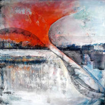Acrylmalerei, Schicht, Abstrakt, Explosiv