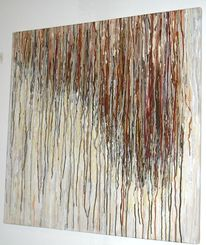 Modern, Gemälde, Mischtechnik, Wandbild