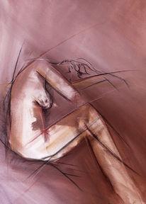 Frau, Akt, Malerei, Menschen