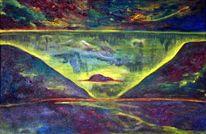 Landschaft, Ausdruck, Ölmalerei, Malerei