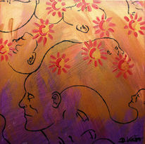 Kopf, Verbindung, Abstrakt, Gedanken