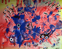 Augen, Abstrakt, Malerei
