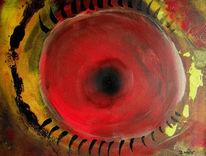 Abstrakt, Augen, Blick, Malerei