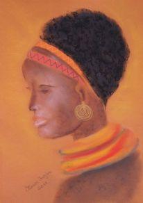 Bunt, Adanna, Afrika, Rot schwarz