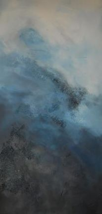 Braun, Acrylmalerei, Königsblau, Kühl