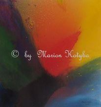 Acrylmalerei, Orange, Malerei, Blau